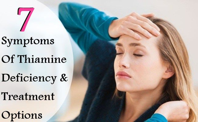 7 Major Symptoms Of Thiamine Deficiency And Treatment Options | Vitamins eStore
