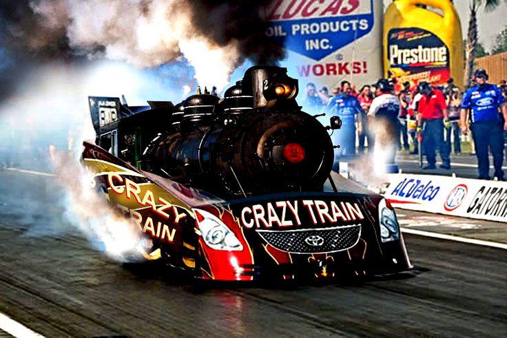crazy train steam funnycar | Cars | Car humor, Unusual art ...