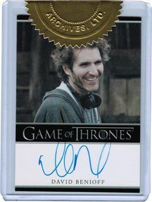 Game of Thrones Season Two Autograph Card Executive Producer David Benioff