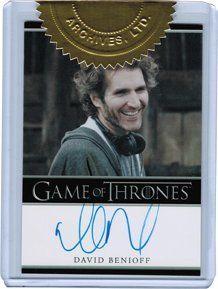 Game of Thrones Season Two Autograph Card Executive Producer David Benioff