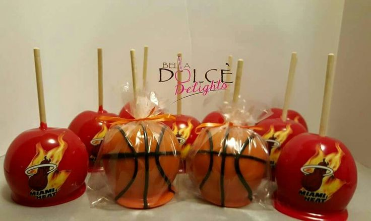 Basketball Candy Apples Cake Pops Candy Apples Candy