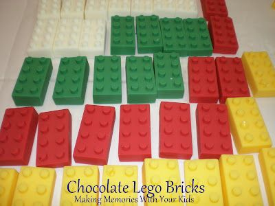 Lego Brick Chocolates - so easy and so cool looking