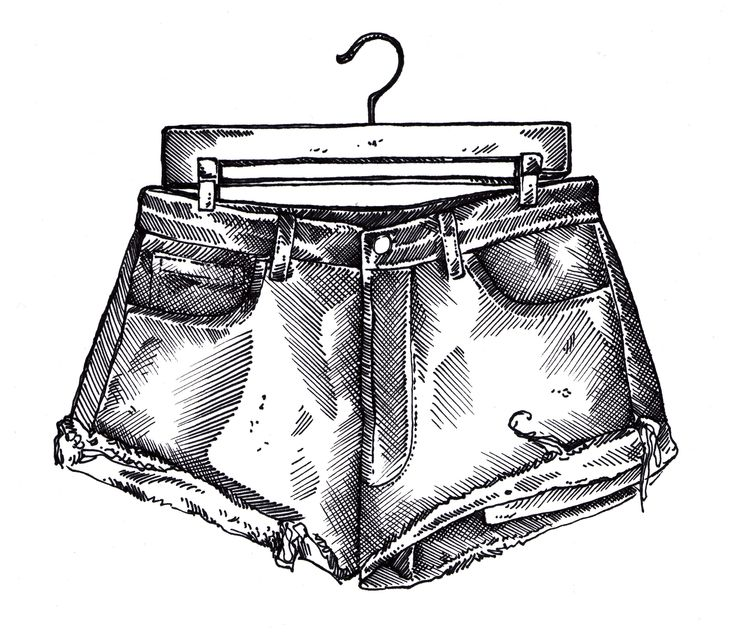 Daisy dukes on paper.  #denim #shorts #fashionillustration
