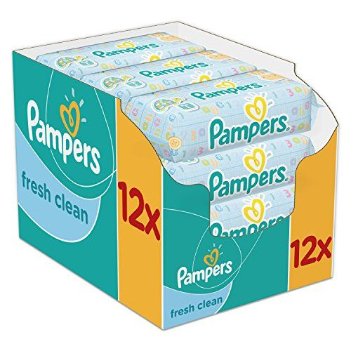 Pampers - Fresh Clean - Lingettes Bébé - 12 Paquets de 64 (x768 Lingettes) - http://www.darrenblogs.com/2017/03/pampers-fresh-clean-lingettes-bebe-12-paquets-de-64-x768-lingettes/