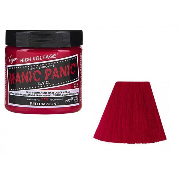 Tinte semipermanente de Manic Panic Red Passion #manicpanic #hairdye #fashion #moda #beauty #belleza #xtremonline