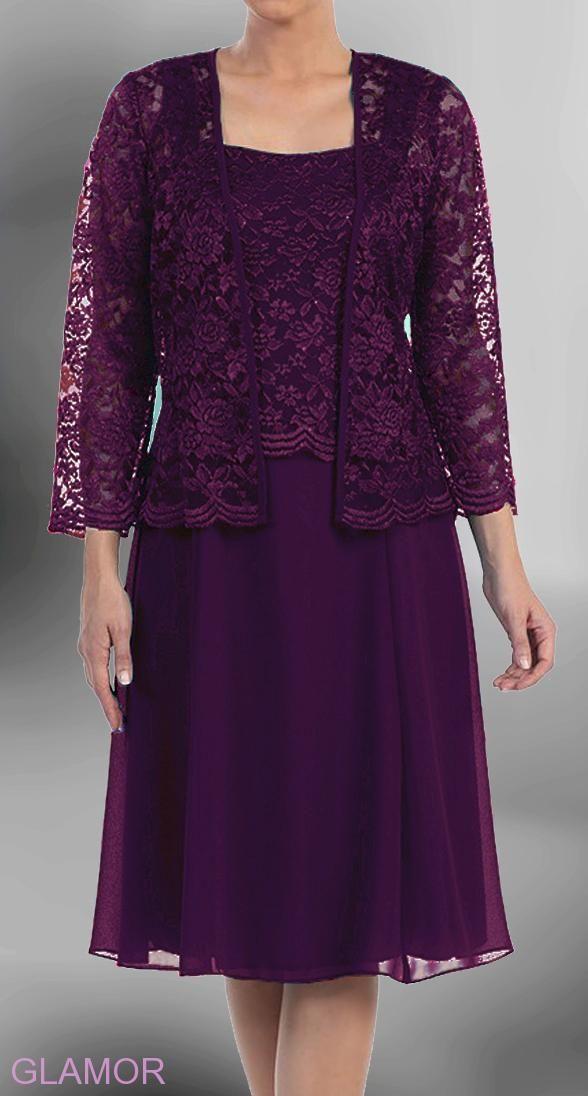 Timeless Plum   krátké společenské šaty fialové
