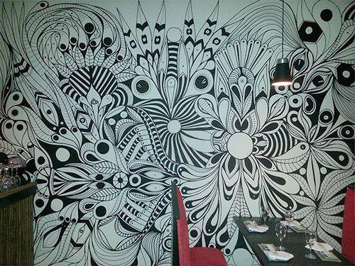 28 best Zentangles wall images on Pinterest   Murals ...