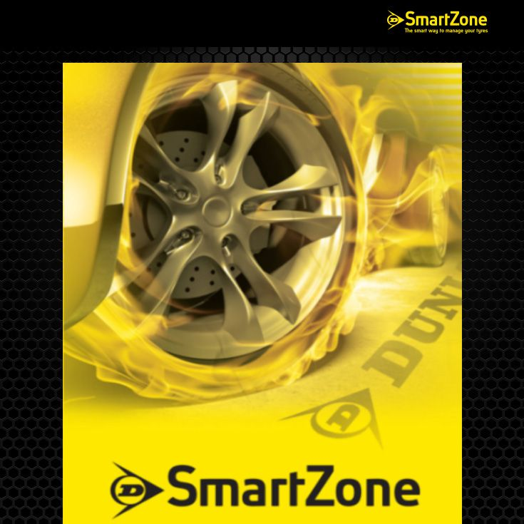 The Dunlop SmartZone App cover screen. Enter our competition to win a Samsung Galaxy Tab3 by click on the photo.