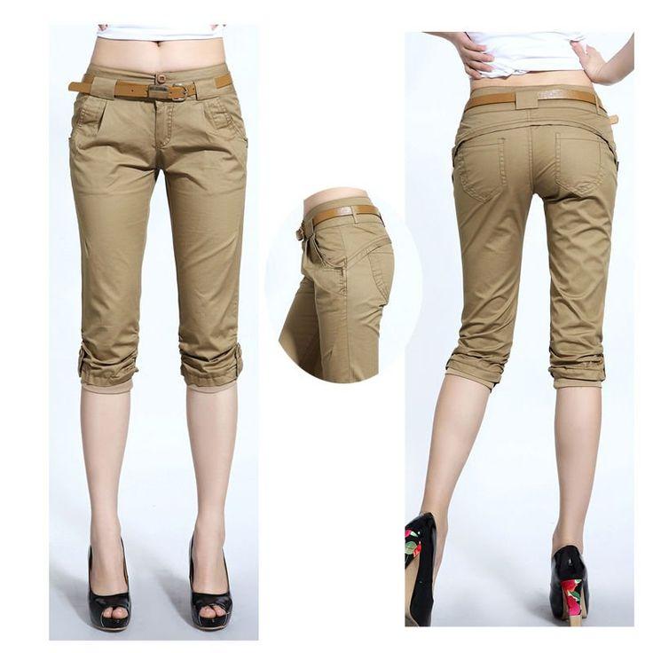 Nueva moda para mujer pantalones chinos ( ds120189 )