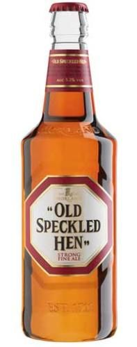 Old Speckled Hen Ale- this stuff will sneak up on you, then take you down in one go.  So good though.