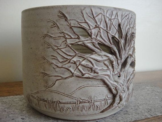 Ceramic Tree Bowl Night Light Candle by alltheseprettythings, £10.00