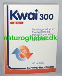 Kwai 300 er et naturlægemiddel med 100 stk i pakken. Kwai 300 til dem der spiser for meget fed mad og dyrker for lidt motion.