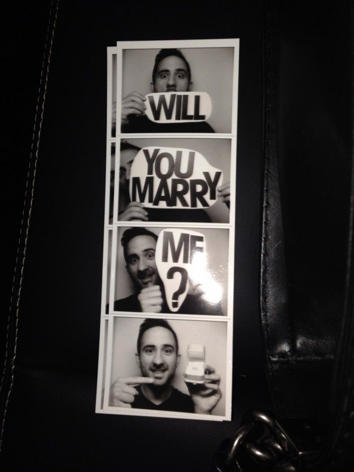 Loving this adorable photo booth proposal. <3