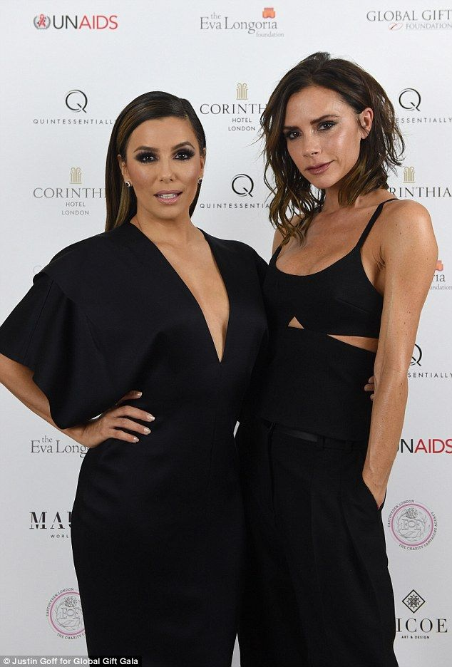Good friends: Eva and Victoria got to know each other when the Beckhams first moved to Los...