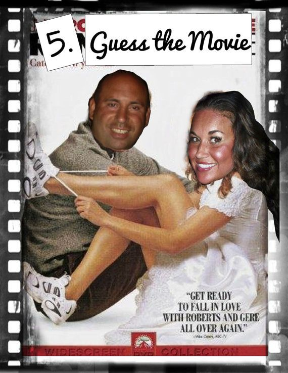 Fun Wedding Shower or Bachelorette game. Guess the Wedding Movie (with the bride/groom pics) on the cover photo. Etsy Instant Download