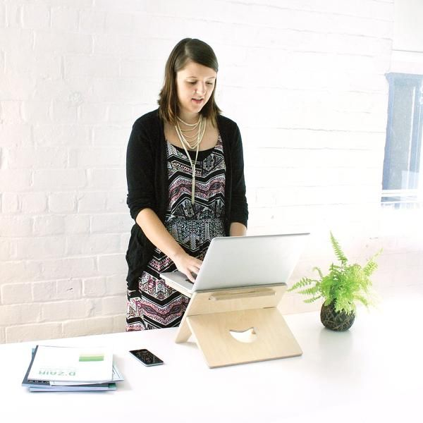 a super portable standing desk