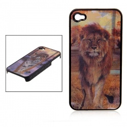 3D Crystal Tiger Graphic Hard Plastic Back Case Cover for iPhone 4 4S