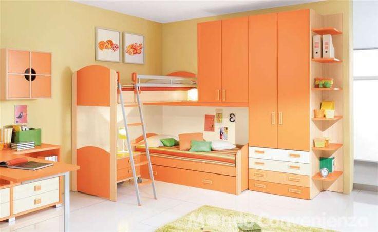Colori camera da letto bambini - Pareti senape