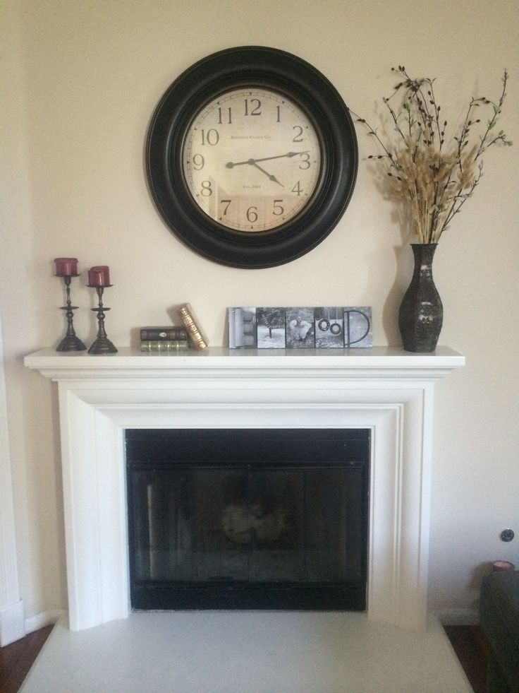 Oversized Wall Clock Over Mantle For The Home In 2019