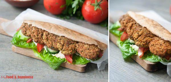 Oven-baked crispy falafel, healthy vegan/vegetarian patties for burgers