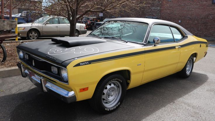 1970 Plymouth Duster - my first car lol, but in silver