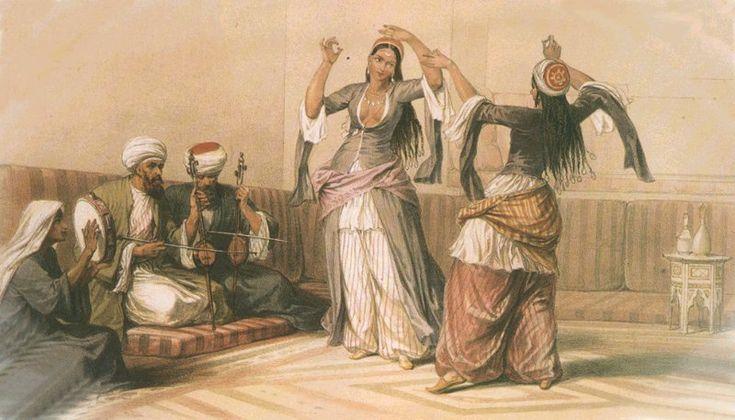 Ghawazi, Le Caire - David Roberts. 1842