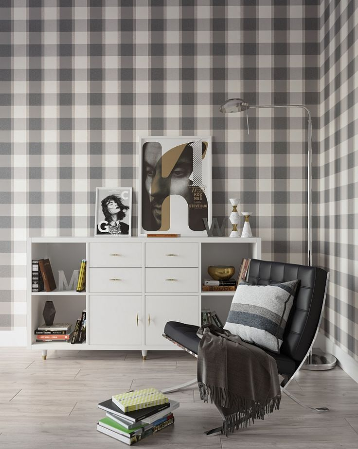 It's fall time, and the time for everything to be about PLAID, PLAID, PLAID! Even WALLPAPER!