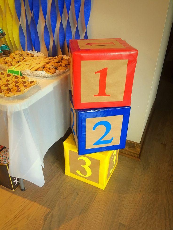 Sesame Street Party #123 #blocks #sesamestreet #sesamestreetbirthdayparty #birthdayparty #firstbirthday #123blocks #birthdaydecor