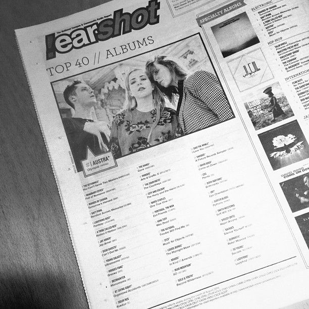 Austra was featured at #1 on the !earshot Top 40 in Exclaim!
