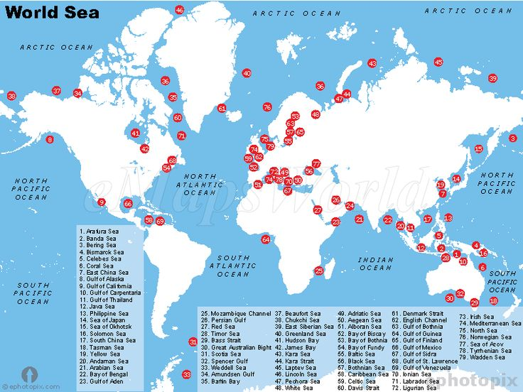 seas of the world map H20 Pinterest World World maps and Maps