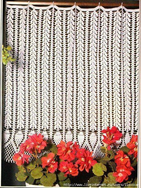 Delicadezas en crochet Gabriela: Delicioso modelo de cortina