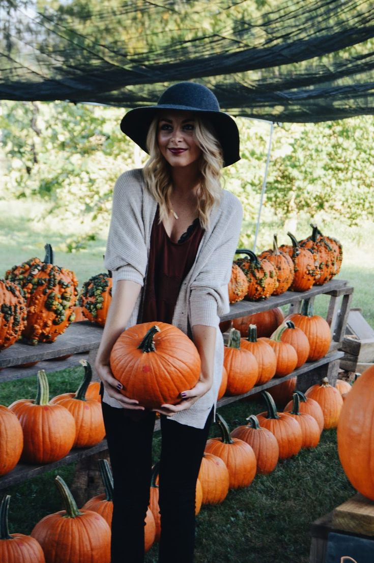 Pumpkin picking outfit.