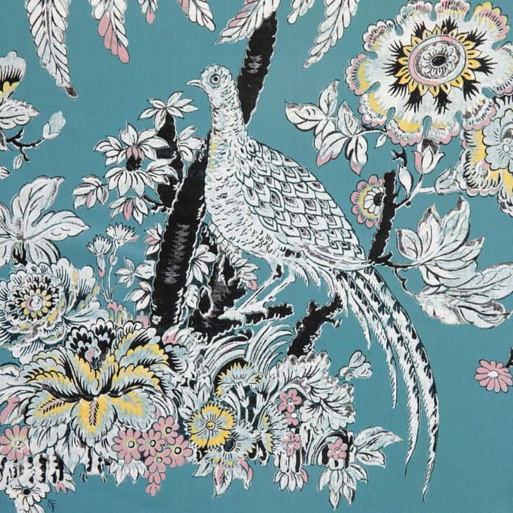 Tropical Toile Peel and Stick Wallpaper by Drew Barrymore