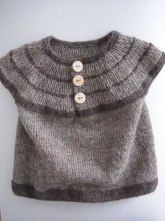 little vest. could do this with the fairisle pattern.