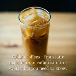 Iced coffee, the Italian way: with ice, in a small glass.