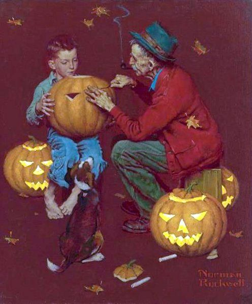 Halloween by N. Rockwell: