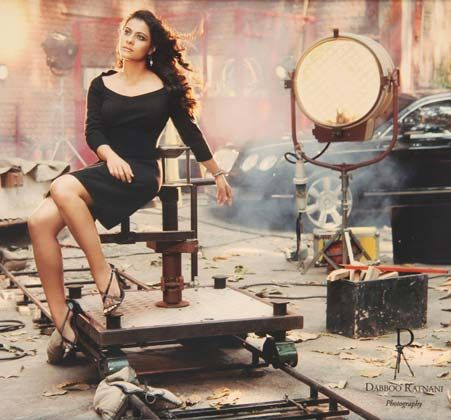 Kajol by Dabboo Ratnani. The actress on the movie backstage.