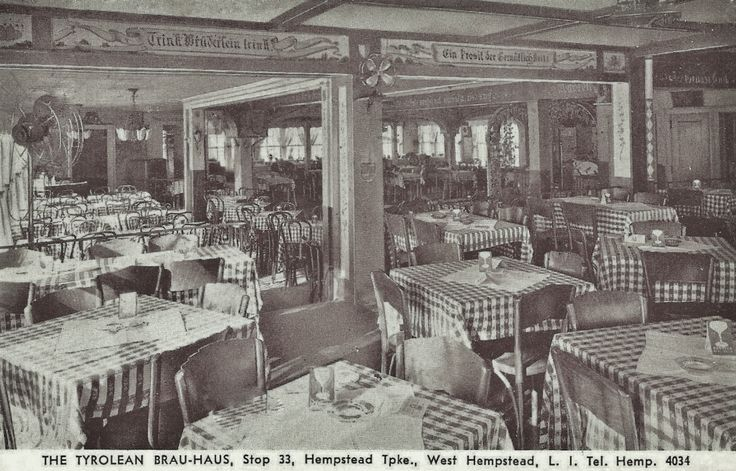 Vintage german american restaurant tyrolean brauhaus 500 for American cuisine long island