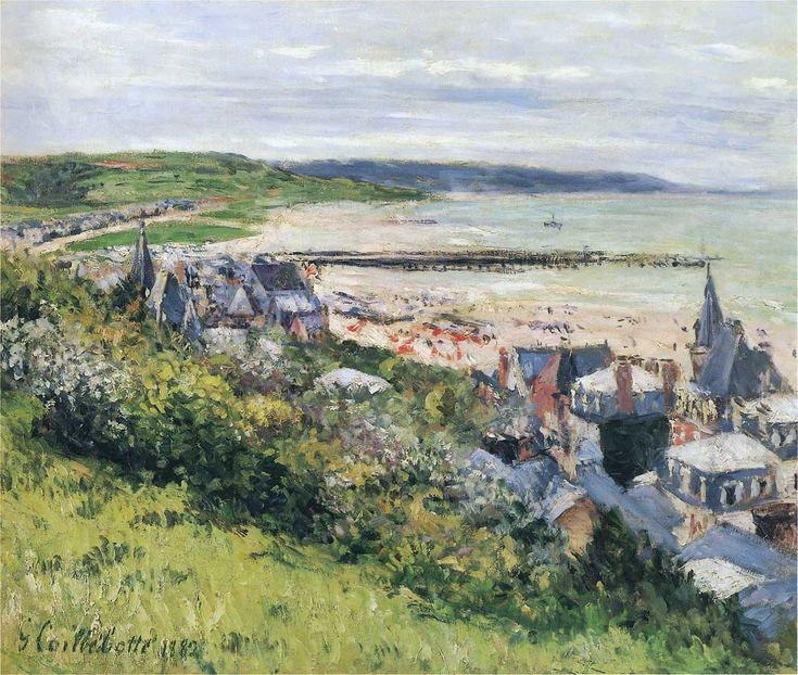 The Athenaeum - The Beach at Trouville, View from the Cornice (Gustave Caillebotte - )