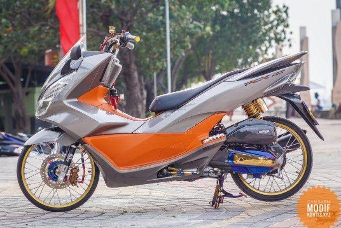 Foto Gambar Modifikasi Unik Motor Honda Pcx Sport Racing Thailook