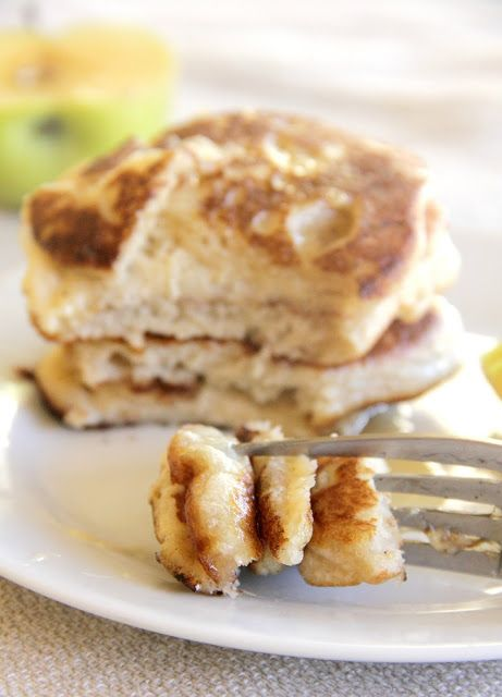 Single Serving pancake.   1 egg 3 tbsp. applesauce 5 tbsp. gluten-free all-purpose flour 2 tbsp. almond flour {or 2 more tbsp. of gluten-free flour} 1/2 tsp. baking powder  In a small bowl, combine the flours and baking powder. Stir in applesauce and egg. Spoon into circles on a greased frying pan over medium heat. Once golden brown, flip to the other side. Serve with fresh fruit and honey or maple syrup.