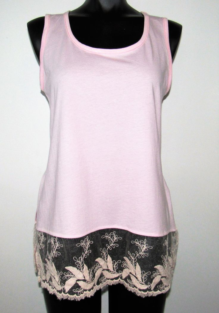 Pink Cami with Trim