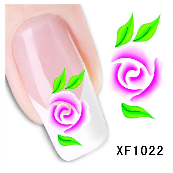 New Nail Design Water Transfer Nails Art Sticker Rose peony Flowers Nail Wraps Sticker Watermark Tips DIY Decals Manicure XF1022