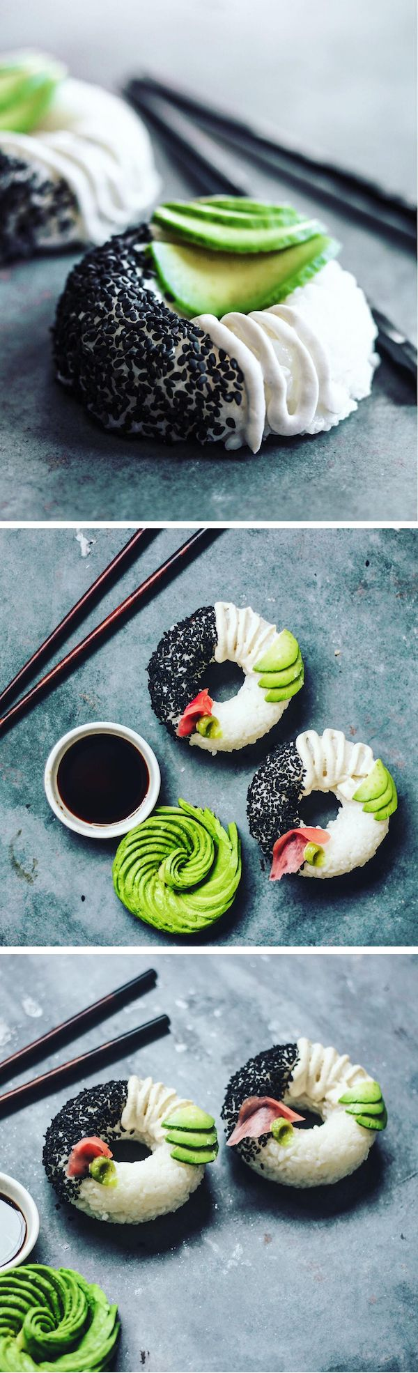 Make Sushi Donuts for your next sushi party. They're tasty and easy to make. #Ad