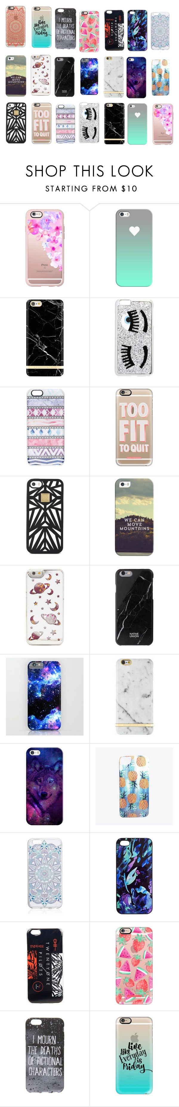 """""""phone cases 3"""" by myage0rge ❤ liked on Polyvore featuring interior, interiors, interior design, home, home decor, interior decorating, Casetify, Chiara Ferragni, Hervé Léger and Native Union"""