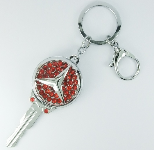 Mercedes benz red diamond car key ring mercedes benz red for Mercedes benz keychain