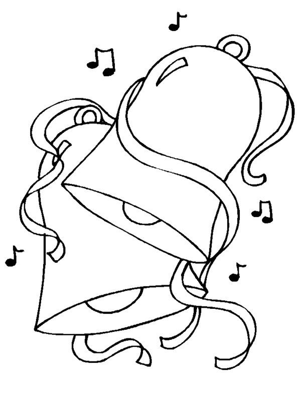 Coloring Pages Christmas Bells Cartoons