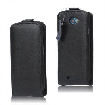 Klassisk HTC One S Läderfodral (Svart)