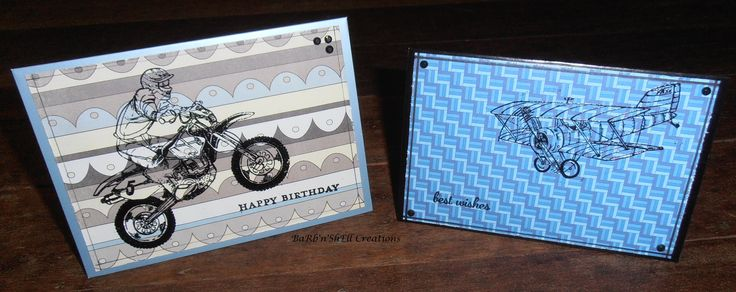 BaRb 'n' ShEll Creations  - Cards created using leftover pieces for card fronts - made by Shell