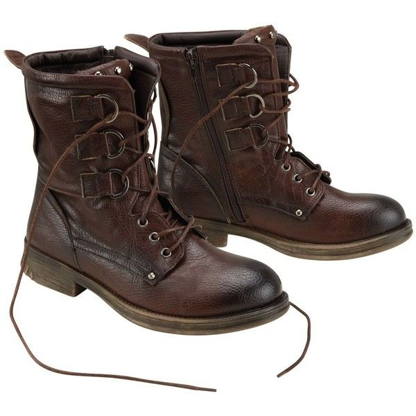 Brown favourite worker boots (125 RON) ❤ liked on Polyvore featuring shoes, boots, women's clothing, brown boots, joe browns, brown shoes, dog footwear and dog boots